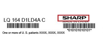 Sharp-label| فروشگاه لپ تاپ اسکرین| لپ تاپ| ال سی دی| پارت نامبر