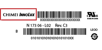 chimei-innolux-Label| فروشگاه لپ تاپ اسکرین| لپ تاپ| ال سی دی| پارت نامبر