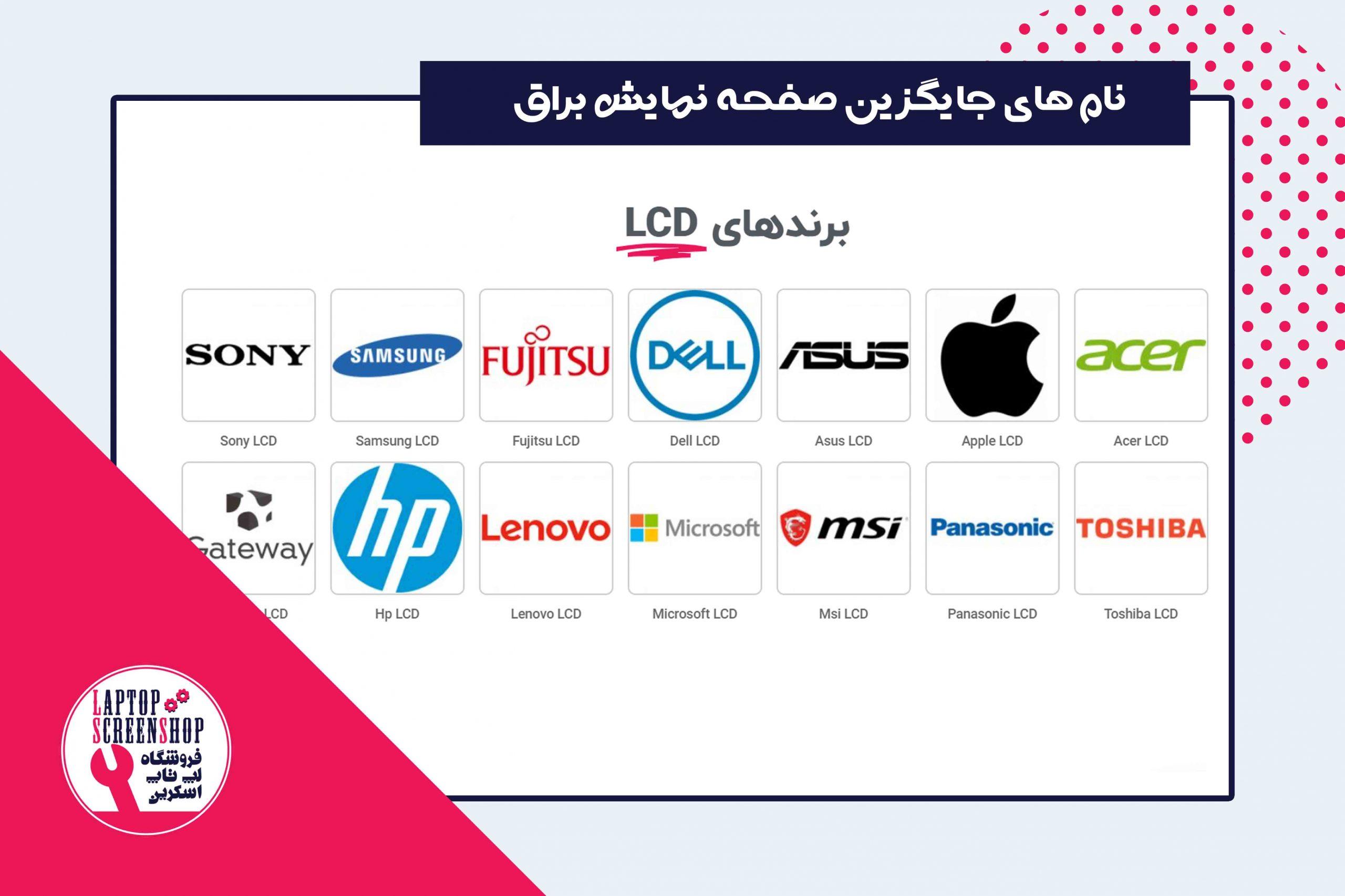 alternative-glossy-screen-names-by-manufacturer تعمیرات گوشی  تعمیر لپ تاپ