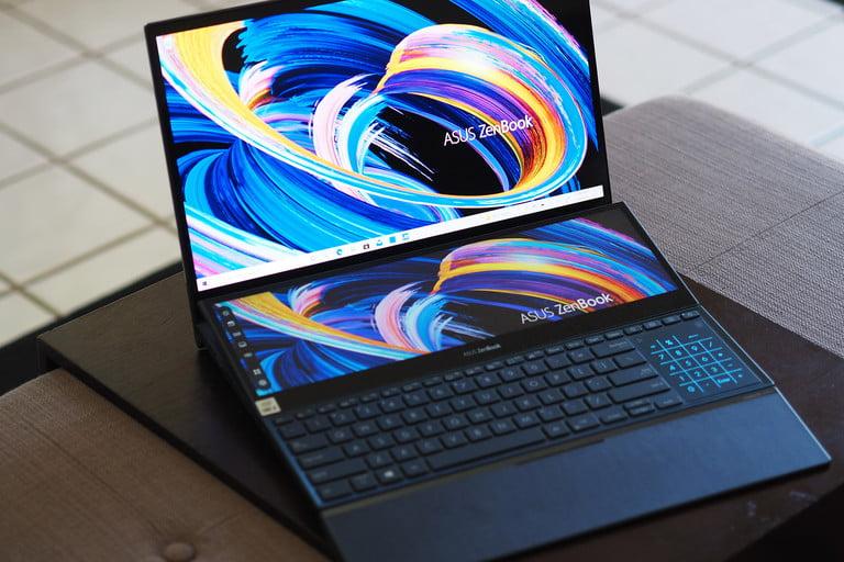 بهترین صفحه نمایش oled Asus ZenBook Pro Duo UX582